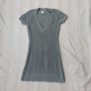 Gray Knit Sweater Dress